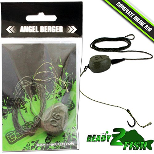 Angel Berger Ready2Fish Complete Inline Rig Karpfenmontage Carptackle (Angeln-rigs)
