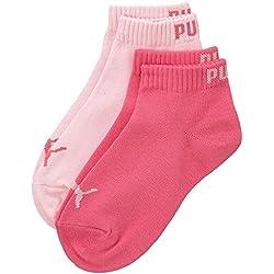 Puma Quarter Kids 2P, Calcetines Infantil, Rosa (Pink Lady/Carmine Rose), 35-38 EU, Pack de 2