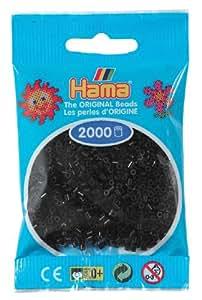 Hama Perlen 501-18 - Mini-Perlen, 2000 Stück schwarz