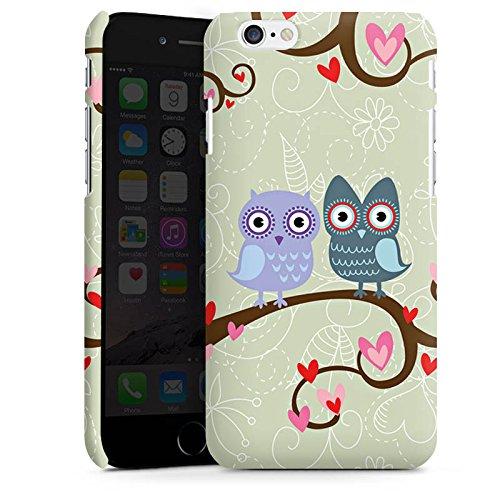 Apple iPhone X Silikon Hülle Case Schutzhülle Eulen Muster Dating Owls Premium Case matt