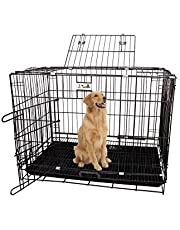 Jainsons Pet Products Black Cage/Crate/Kennel with Removable Tray for Dogs/Cats, 36 inch