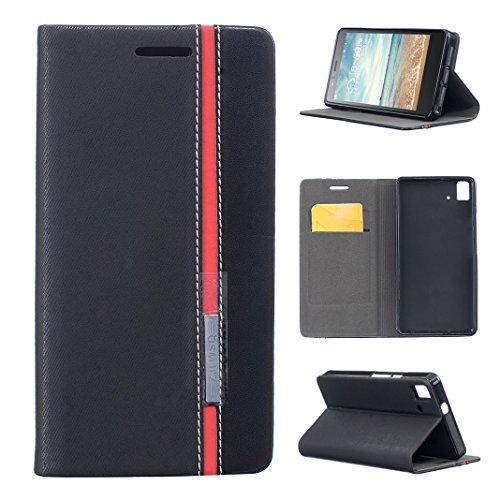 AQUARIS E5 Leder-Schutzhülle, Asnlove Flip Case Leder Druck Puro Buch mit weichem TPU Silikon Schutzhülle Speicher, faltbarer Ständer, Steckplätzen für Karten & Brieftasche BQ Aquaris E5S