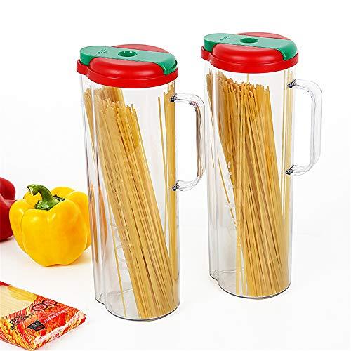 NNDQ 2er-Pack Spaghetti-Nudelbehälter mit Deckel, Pasta Keeper, luftdichter, auslaufsicherer Spaghetti Keeper BPA-frei, luftdichte Lagerung von Lebensmitteln Pasta Keeper