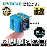 SQ11 Mini cámara 1080P , Mini Cam , Portable HD Nanny Web Cam ( visión nocturna, FOV140, 1080P,...