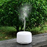 {Perfect for Office or House} Noza Tec 500ml Aroma Essential Oil Diffuser 6 Changeable Colour LED Light Cool Mist Ultrasonic Humidifier with Fragrance Aroma Air Purifier with Ioniser Silent