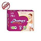 #10: Champs High Absorbent Premium Pant Style Diaper | Premium Pant Diapers (Large, 48 Pieces)| Premium Diapers | Premium Baby Diapers | | anti-rash and anti-bacterial diaper |