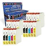 Alaskaprint 20X for Epson T071- T0714 Compatible Ink Cartridges Stylus Dx4050 Dx5000 Dx8400 Sx200 Sx410 Sx415 Sx510 Sx515 Sx515W Sx600Fw Bx300 Bx310Fn Bx410 Bx510 Bx600Fw Bx610Fw B40W Printer