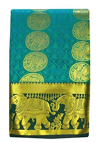 Saravanabava Silks - Kanchipuram Silks Sarees Elephant Border (Art Silk Empossed Butta...