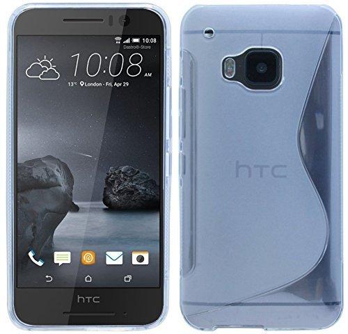 ENERGMiX HTC ONE S9 // S-Line TPU SchutzHülle Silikon Hülle Silikonschale Case Cover Bumper in Transparent