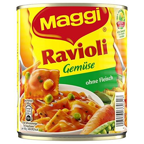 Maggi Gemüse-Ravioli in Tomatensauce, 6er Pack (6 x 800 g Dose)