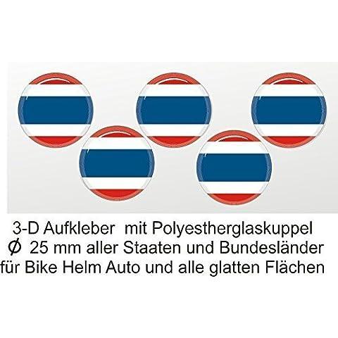 3d etiqueta redonda, Tailandia, adhesivo en 3D, países Decorar, cubierto con cúpula de PVC, 25mm