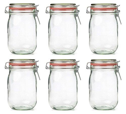 Einmachglas Vorratsglas mit Silikonring und Bügelverschluss 6 Stück Set Größenauswahl, Größe:250 ml