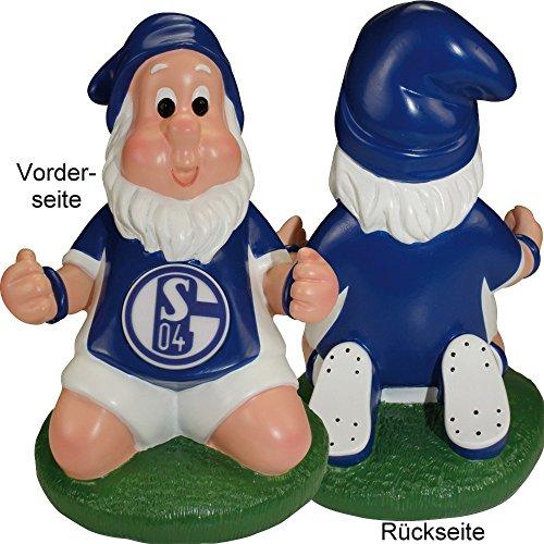 FC Schalke 04 Gartenzwerg klein kniend