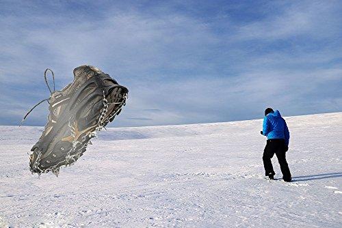 SehrGo Unisex multifunción alfombrilla antideslizante para botas de suela de clavijas hielo Grips tracción crampones cadena Spike 1 par 7