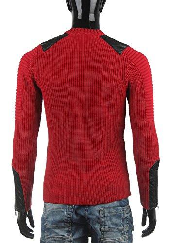 Cipo & Baxx Herren Pullover Tricot CP108 Rot