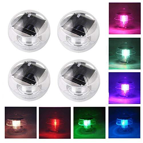 ecosway Solar Power LED Farbwechsel Schwimmende Teich Pool Globe Licht Wasserdicht ABS Kunststoff hängenden Kugel Lampe für Garten Yard Rasen Path Schwimmen Pool Party Decor -