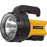 Taschenlampe wiederaufladbarer Halogen Handscheinwerfer 6 V schwarz Handleuchte