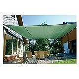 EDUPLAY Sonnenschutz Sonnensegel, wasserdurchlässig, Größe:5x5x5m, Farbe:Grün