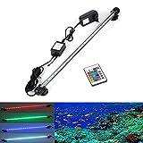 GreenSun LED Lighting 48cm RGB Ferbedienung mit 24 Tasten Aquarium LED Beleuchtung Leuchte Lampe wasserfest Unterwasserlicht langsames Aufleuchten Deko für Aquarium Fische Tank