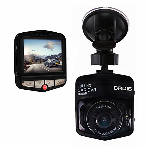 Car DVR Dash Cam (16GB Card Included) Camera Digital Driving Video Recorder by ORUISS HD 1080P Wide Angle, G-Sensor