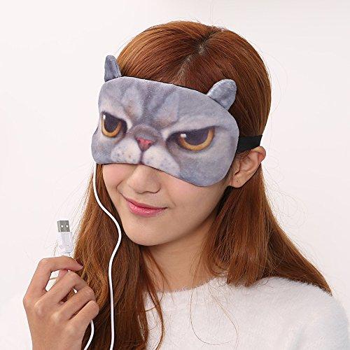 &zhou Visière 3D coton confortable décompression aide sommeil chaud respirant USB pack lunettes