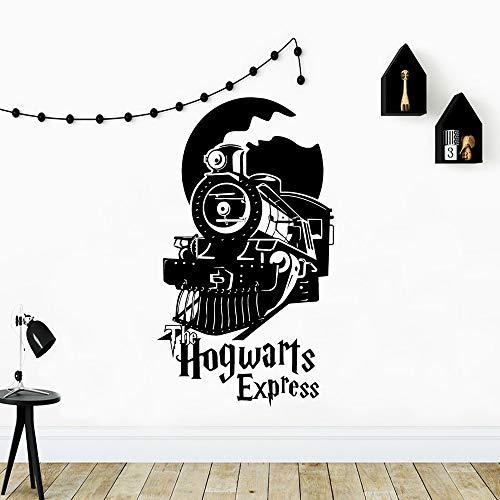 zxddzl Lustige Zug Hogwarts Wandaufkleber Selbstklebende Vinyl wasserdichte Wandkunst Aufkleber Für Kinderzimmer Dekoration Vinyl Decals-98x56 cm