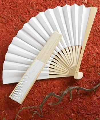Elegant White Folding Fan Wedding Favors, 240 by Fashioncraft