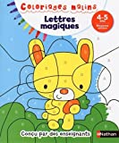 coloriages malins lettres magiques moyenne section 4 5 ans by mariana vidal 2016 01 19