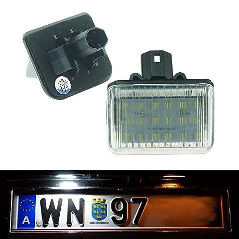 DoLED 200 LED Kennzeichenbeleuchtung TÜV frei mit E-Prüfzeichen Xenon