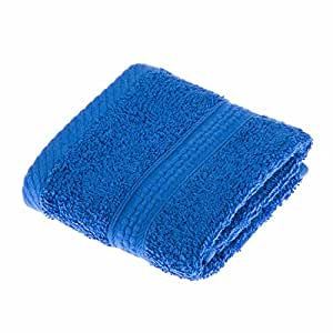 Homescapes Turkish Cotton Face Towel Flannel Royal Blue Very Soft and Absorbent, 500 GSM Heavy Weight for everyday Luxury