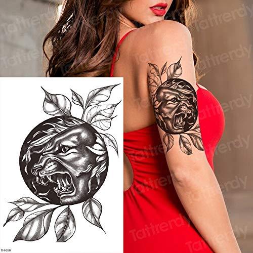 Tzxdbh disegni del tatuaggio disegni del tatuaggio della tigre nera della manica della pantera per il tatuaggio del corpo di tatoo delle donne di rimozione degli uomini