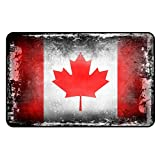 Cadora Magnetschild Kühlschrankmagnet Flagge Kanada shabby chic abgenutzt alt gebraucht