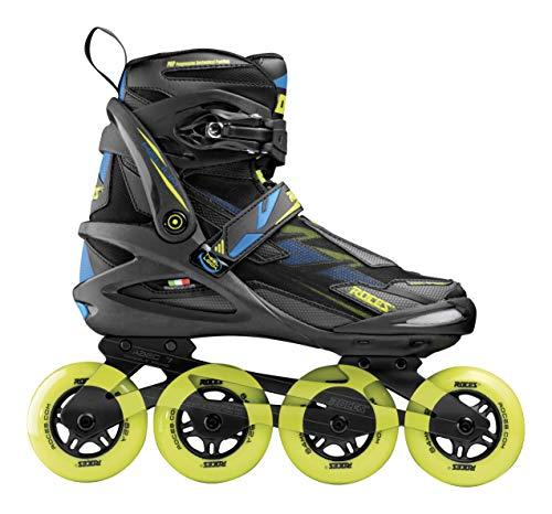 Roces Herren Helium TIF Inline Skates, Black-Lime, 46