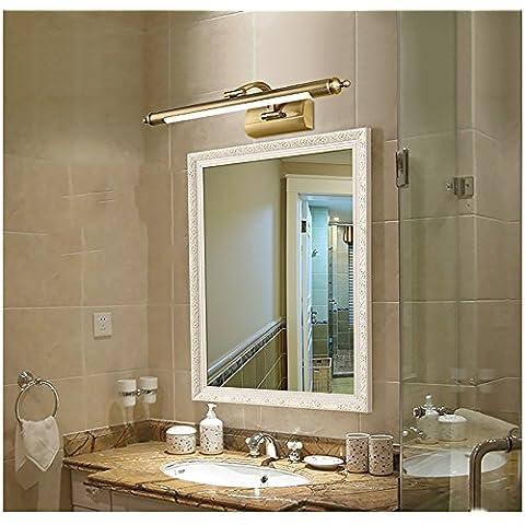 flashing lights- Americano Europeo Specchio Retro faro specchio del bagno della luce del Governo trucco Luci impermeabile LED di rame antico ( dimensioni : S. )