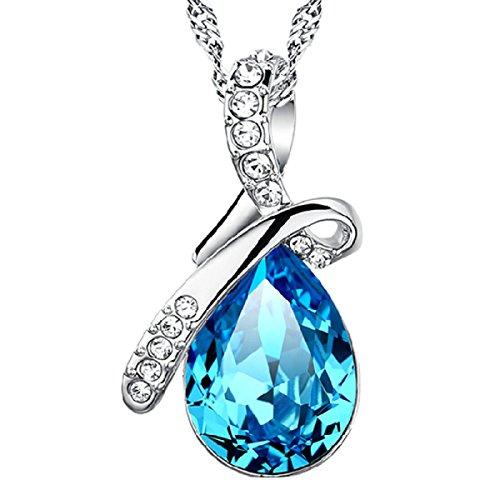 ZPXLGW Gocce Angeli Pendente Delle Donne Di Vetro Di Cristallo Del Diamante,Blue-L