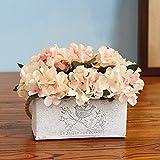 Jnseaol Kunstblumen Künstliche Blumen Gefälschte Blumen Wok Diy Wand Wohnzimmer Schlafzimmer Windowsill Party Küche Hause Urlaub Geschenke Topfpflanzen Pink-04