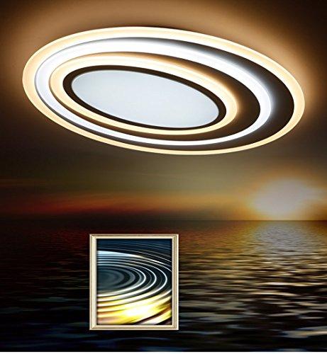 TonHan LED Deckenleuchte X092 mit Fernbedienung Lichtfarbe/helligkeit einstellbar Acryl-Schirm A+,LED Wohnzimmerleuchte (XW092)