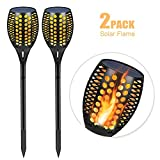 Solar Garden Lights,Aityvert Outdoor Tiki Torch Flickering Dancing Flames Light Landscape Decoration Lighting