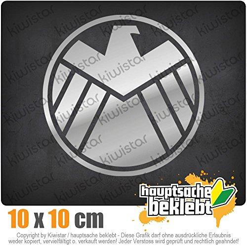 KIWISTAR Agents of S.H.I.E.L.D. 10 x 10 cm IN 15 FARBEN - Neon + Chrom! Sticker Aufkleber (Agent-aufkleber)