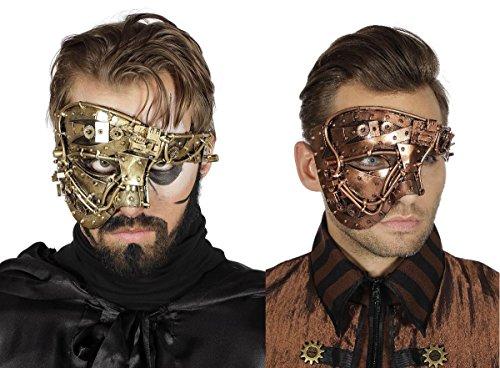 Wilbers Kostüm Zubehör Steampunk Maske Karneval Halloween gold