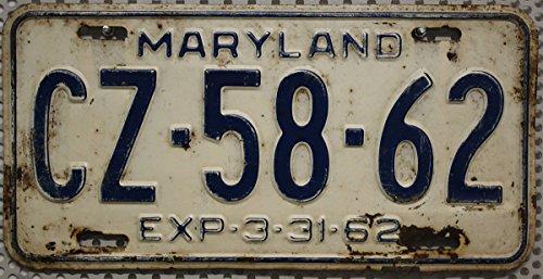 US Nummernschild MARYLAND Kennzeichen # USA License Plate # Auto - Schild