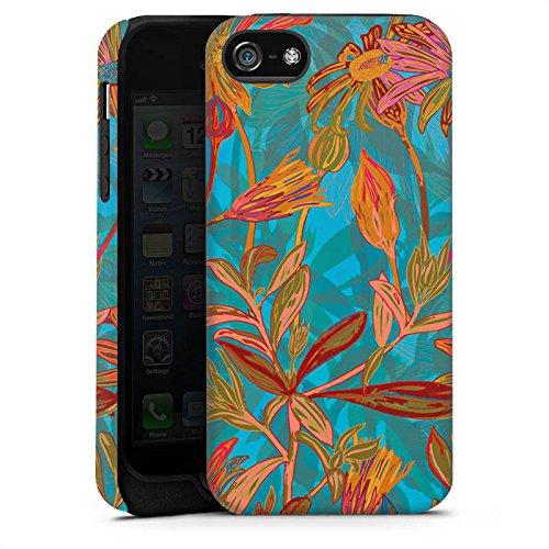 Apple iPhone X Silikon Hülle Case Schutzhülle Herbstblumen Blumen Muster Tough Case matt