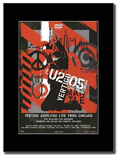 U2 - Vertigo 2005 Live From Chicago Magazine Promo on a Black Mount (Magazine Chicago Das)