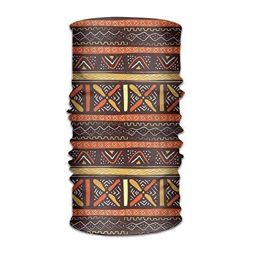 KENTONG Hill Orange African Stripe Outdoor Wide Headband Elastic Seamless Scarf UV Resistence Sport Headwear for Men&Women Wide Stripe Beanie