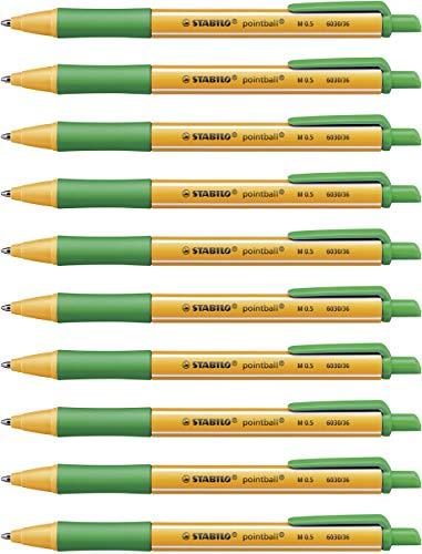 Kugelschreiber - STABILO pointball - 10er Pack - grün