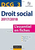 DCG 3 - Droit social 2017/2018 - 8e éd. - ...