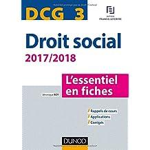 DCG 3 - Droit social 2017/2018 - 8e éd. - L'essentiel en fiches