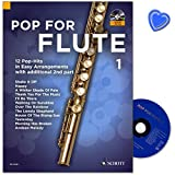 Pop For Flute - aktuelle Pop-Songs, bekannte Filmsongs und zeitlose Evergreens in einfachen Arrangements - Notenbuch mit CD und mit bunter herzförmiger Notenklammer