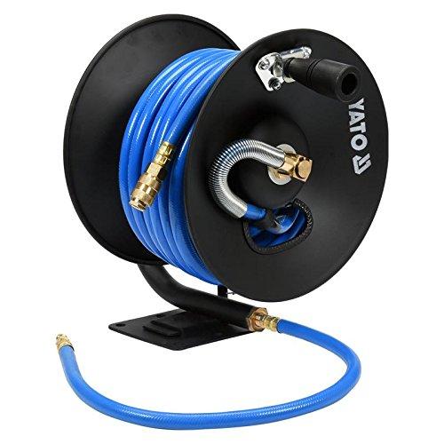 Yato professionale tubo aria compressa lunghezza: 15m diametro interno: 10mm su tamburo per il montaggio a muro o pavimento