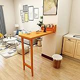 Klappbarer Bartisch, Trennwandschrank, Wandtisch, einfacher Esstisch - Klapptisch (Farbe : Orange)